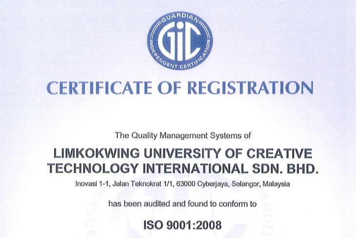 Limkokwing University receives ISO 9001:2008 certification ...