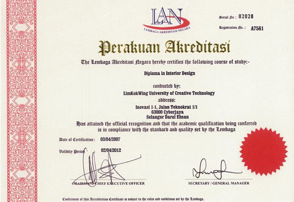 Accreditation Limkokwing University Of Creative Technology