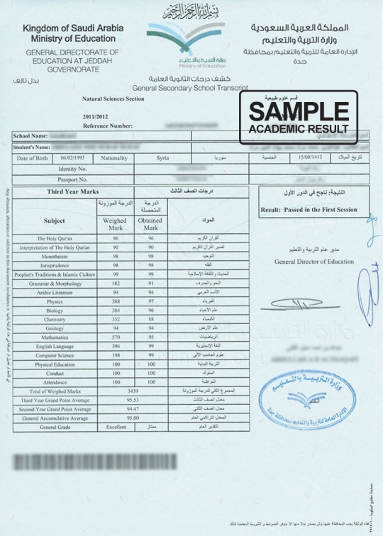 Certificate Transcript Sample Image Collections