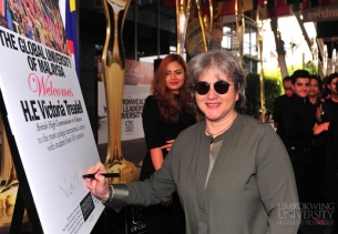 British High Commissioner Victoria Treadell visits Limkokwing University