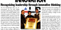 Limkokwing Wins US Award for Global Leadership Intransformational Innovation