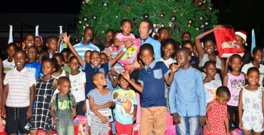 The unveiling of Gaborone's biggest Christmas tree