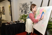 Students learn Figurative Expressionism Art by Lupe Gallo