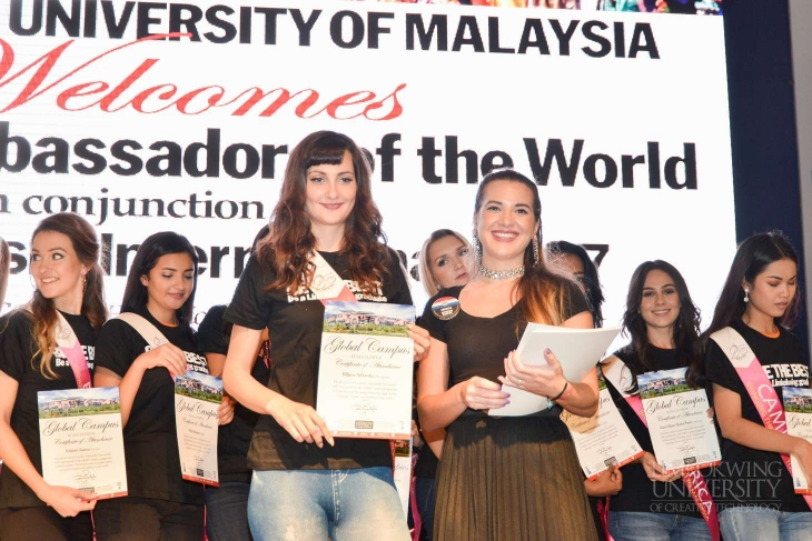 Miss Tourism International contestants visit Limkokwing University: 'It's beautiful when cultures mix'