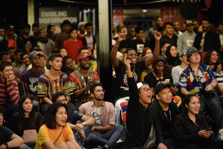 Students from over 150 countries celebrate the beauty and diversity of Africa