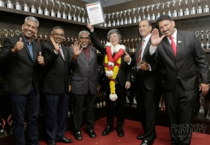 "Tan Sri Limkokwing receives MIMCOIN ""Leadership Excellence in Nation Building"" award"