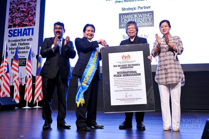 Prime Minister's Department recognises Founder and President of Limkokwing University as International Peace Ambassador
