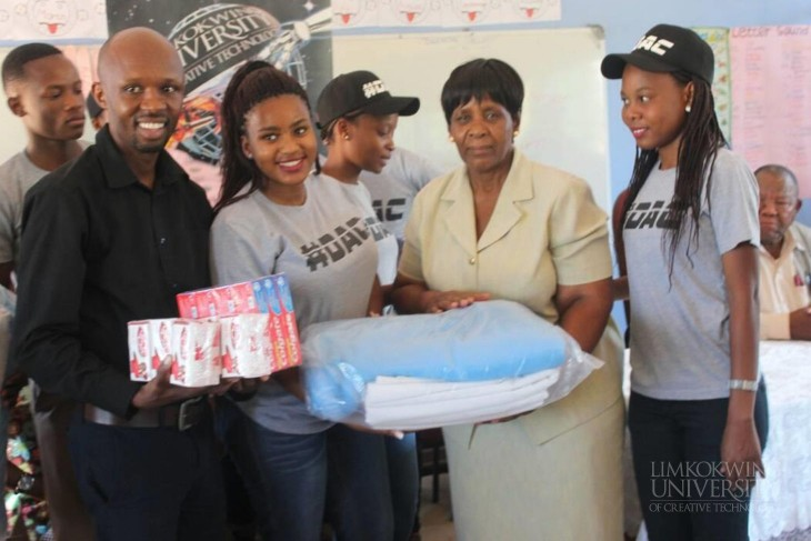 Limkokwing students donate goods to Gabane Home-Based Care